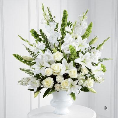 White and Green Service Arrangement